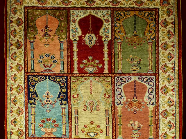 barevní koberec