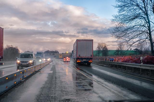 mokrá dálnice
